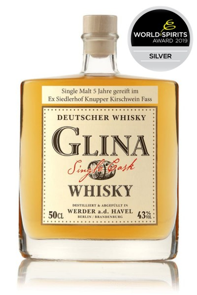 Knupperkirschwein-Fass 0,5 Glina Whisky Vorderseite