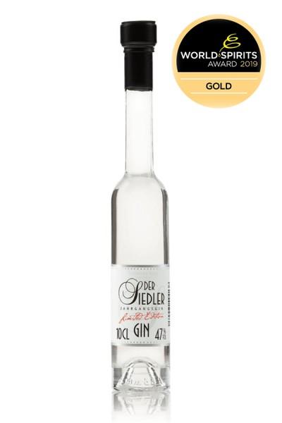 Der Siedler Gin 0,1 Vorderseite Glina Whisky