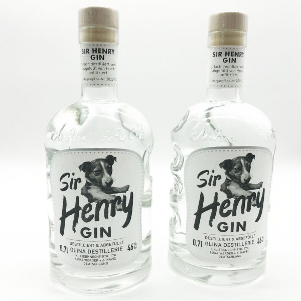 2x Sir Henry Gin 0,7 L