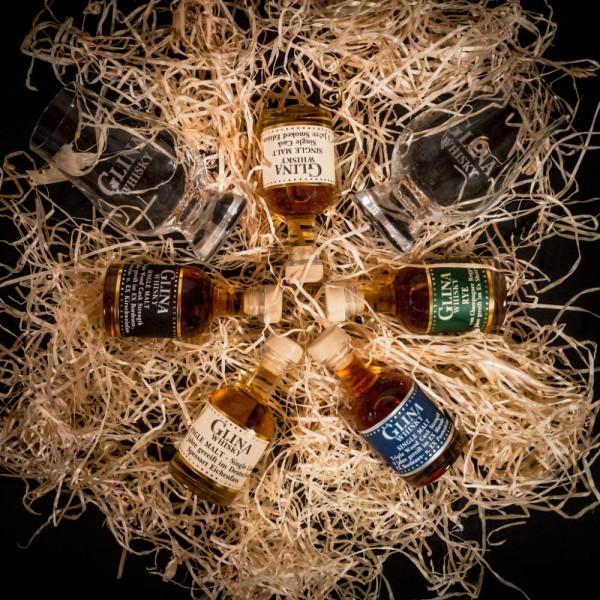 Online-Tasting   27.03.2021 – 19Uhr   5x 4cl & 2 Glencairn-Gläser