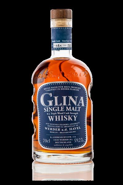 Glina Whisky 8 Jahre Single Malt Triple Cask | Fassstärke