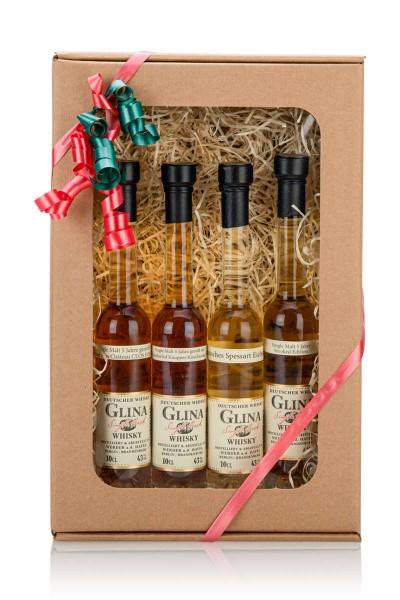4x 0,1 L Glina Whisky Single Malt im Geschenkset