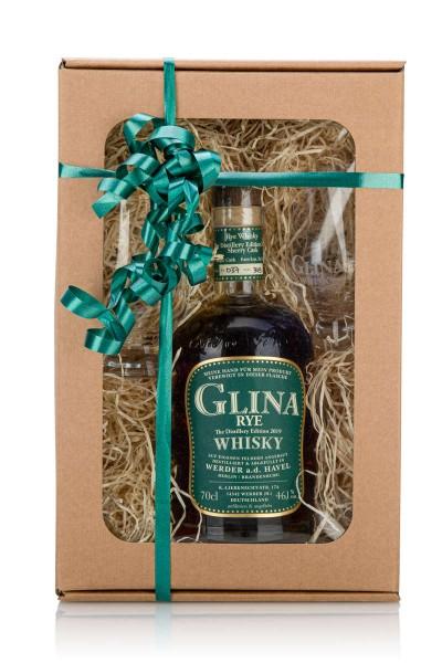 Geschenkset | 5 Jahre Rye Whisky | 2 Glencairn-Gläser