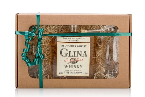 Geschenkset | 5 Jahre Ex Sherry Cask | 2 Glencairn-Gläser | Ausgießer
